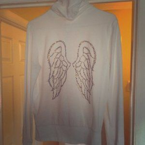 Victoria's Secret Rhinestone Angel Wings Hoodie